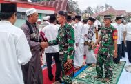 Satuan TNI 0314 Inhil Gelar Sholat Istisqa dan Do'a Bersama di Kecamatan Keritang