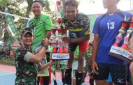 Open Turnamen Volly Ball Putra Dandim Cup lll Resmi ditutup Wabup Kab Inhil