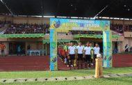 Dandim 0314/Inhil Letkol Inf Imir Faishal hadiri pertandingan sepak bola PS Kodim VS PS Darma Berlian