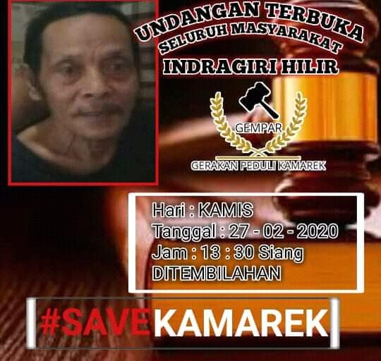 Gerakan Peduli Kamarek (Gempar) yang terdiri dari pemuda dan masyarakat Kabupaten Indragiri Hilir