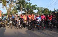 Dandim Dan Kapolres Inhil Melaksanakan goes bersepeda di Kota Tembilahan