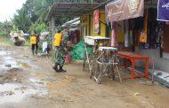 Kodim 0314 melakukan Penyemprotan di dua Desa