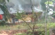 Rumah Dinas Pejabat Pelalawan Ludes Terbakar.