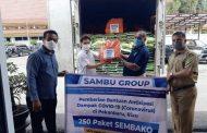 Sambu Group Beri Paket Sembako via Biro Kesra Propinsi Riau
