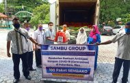Bersama Dinas Perkebunan Riau, Sambu Group Bagikan Paket Sembako