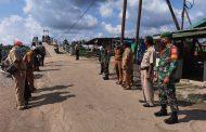 *Personil Koramil 11 Pulau Burung Tetap Konsisten melaksanakan Penegakan Disiplin Protokol Kesehatan New Normal*