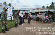 *Babinsa Koramil 11 Pulau Burung Tegakkan disiplin Protokol Kesehatan dengan Himbauan di beberapa ruas Jalan*