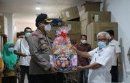 Momen Hari Bhayangkara Ke 74, Kapolres Inhil Beri Dukungan Kepada Tim Medis Penaganan Covid 19