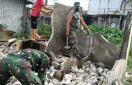 *Danramil 11 Pulau Burung turun langsung pembangunan area parkir Masjid Al -Iman*