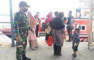 Tekankan Protokol Kesehatan, Inilah Yang Dilakukan Babinsa Sertu Edili Zalukhu di Pelabuhan Syahbandar