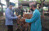 Kodim 0314/Inhil di Hari Raya Idul Adha 1441 H ini melaksanakan penyembelihan hewan kurban