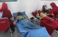 Dalam Rangka Memperingati Hari Ulang Tahun (HUT) Kemerdekaan Republik Indonesia ke-75, Kodim 0314/Inhil Bekerjasama Dengan Palang Merah Indonesia (PMI) Inhil Menggelar Bhakti Sosial Donor Darah