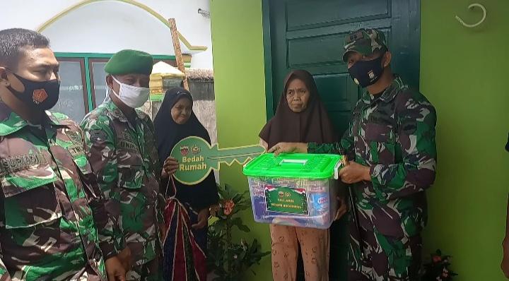 Dandim 0314/Inhil Sebut program bedah rumah dapat memupuk kemanunggalan TNI dalam membantu kesejahteraan masyarakat