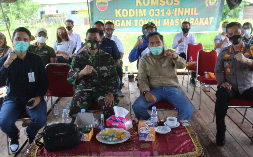 Dandim 0314/Inhil Gelar Coffee Morning bersama Kapolres,Ketua DPRD Inhil dan Kepala BRI