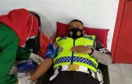 Kapolres Inhil ikut berpartisipasi dalam Baksos Donor Darah Kodim 0314/Inhil
