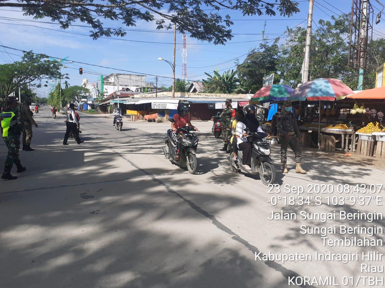 Satuan Tugas (Satgas) Pemburu Teking Covid 19 Kodim 0314/Inhil terus melaksanakan aksi