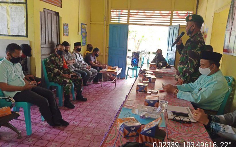 Kapten Arh.Uwin Suharto Danramil 08/Mandah Kodim 0314/Inhil Hadiri Sosialisasi Penegakkan Disiplin