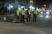 Persimpangan Jalan di Kota Tembilahan,Sasaran Gakplin Satgas Kodim 0314/Inhil Malam Ini