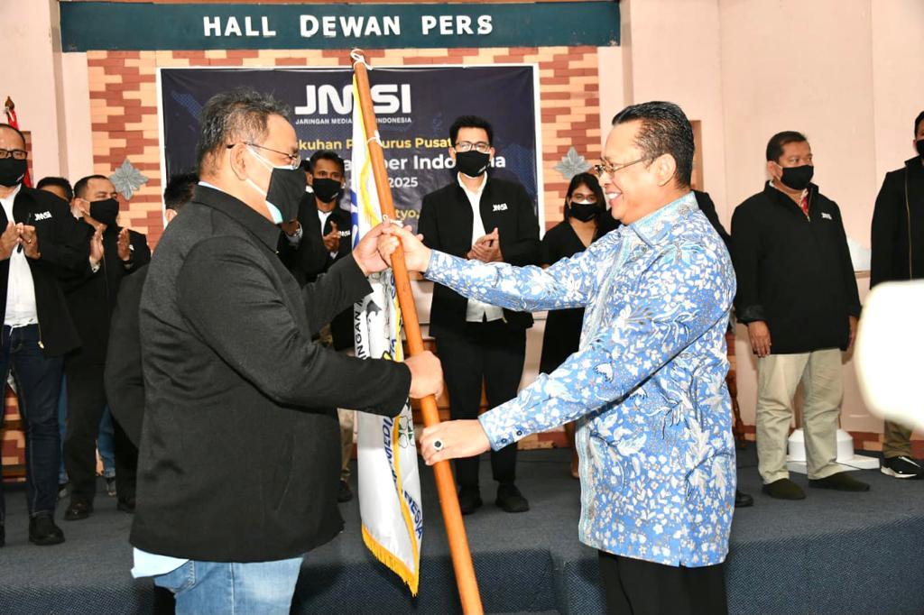 Lantik Pengurus Pusat Jaringan Media Siber Indonesia (JMSI), Bamsoet Ingatkan Bahaya Informasi Hoax Pandemi Covid-19