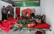Kodim 0314/Inhil kembali menggelar bhakti sosial Donor Darah