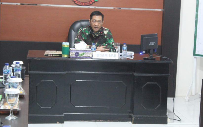 Kodim 0314/Inhil Menerima Kunker dari Inspektorat Kodam (Irdam) l/Bukit Barisan Brigadir Jendral TNI Gamal Haryo Putro, S.l.P, M.Hum., M.S.S.