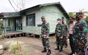 Brigjen TNI Gamal Haryo Putro Meninjau Langsung Kondisi Kantor Koramil yang Sudah Layak Untuk di Rehab