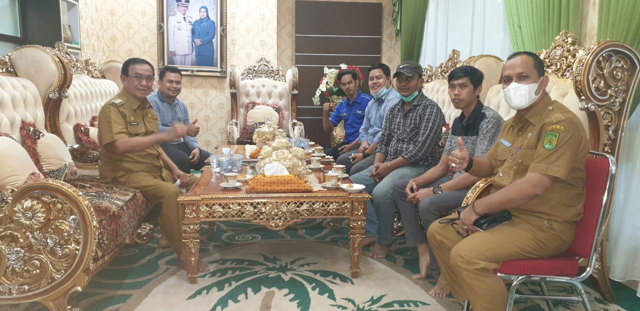 Bupati Inhil Siap Dukung Program PWI Inhil 2020-2023