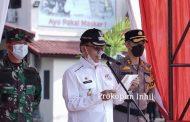 Bupati Inhil Pimpin Apel Gelar Pasukan Operasi Ketupat Lancang Kuning Tahun 2021