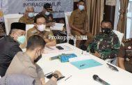 Secara Virtual Bupati HM.Wardan Ikuti Rapat Kordinasi Perkembangan Dan Penanganan Covid-19 Se Indonesia