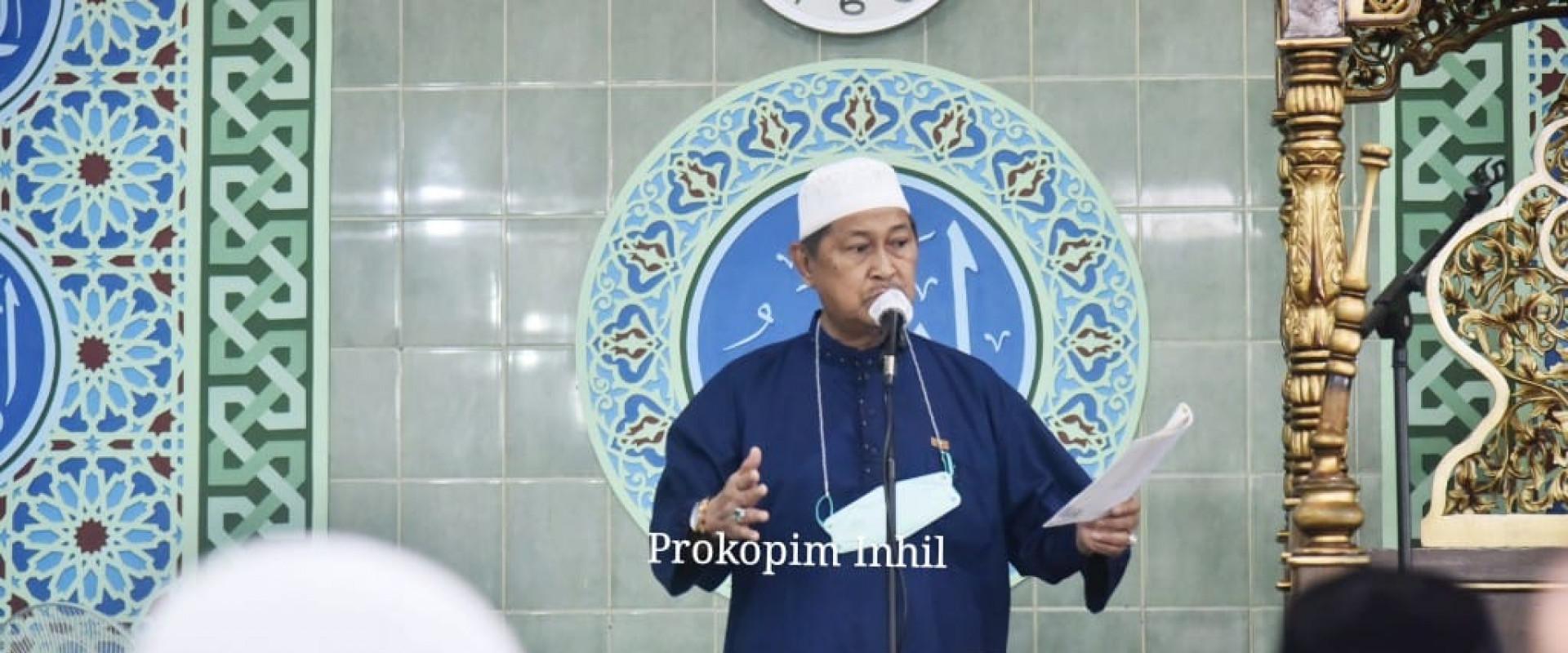 Shalat Idul Fitri 1442 Di Mesjid Nurul Hidayah, Wabup Inhil : Mari Kita Berdoa, Berharap Pendemi Covid-19 Segera Berakhir