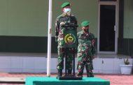 Dandim 0314/lnhil Letkol lnf lmir Faishal memimpin langsung upacara Penerimaan Personil Baru