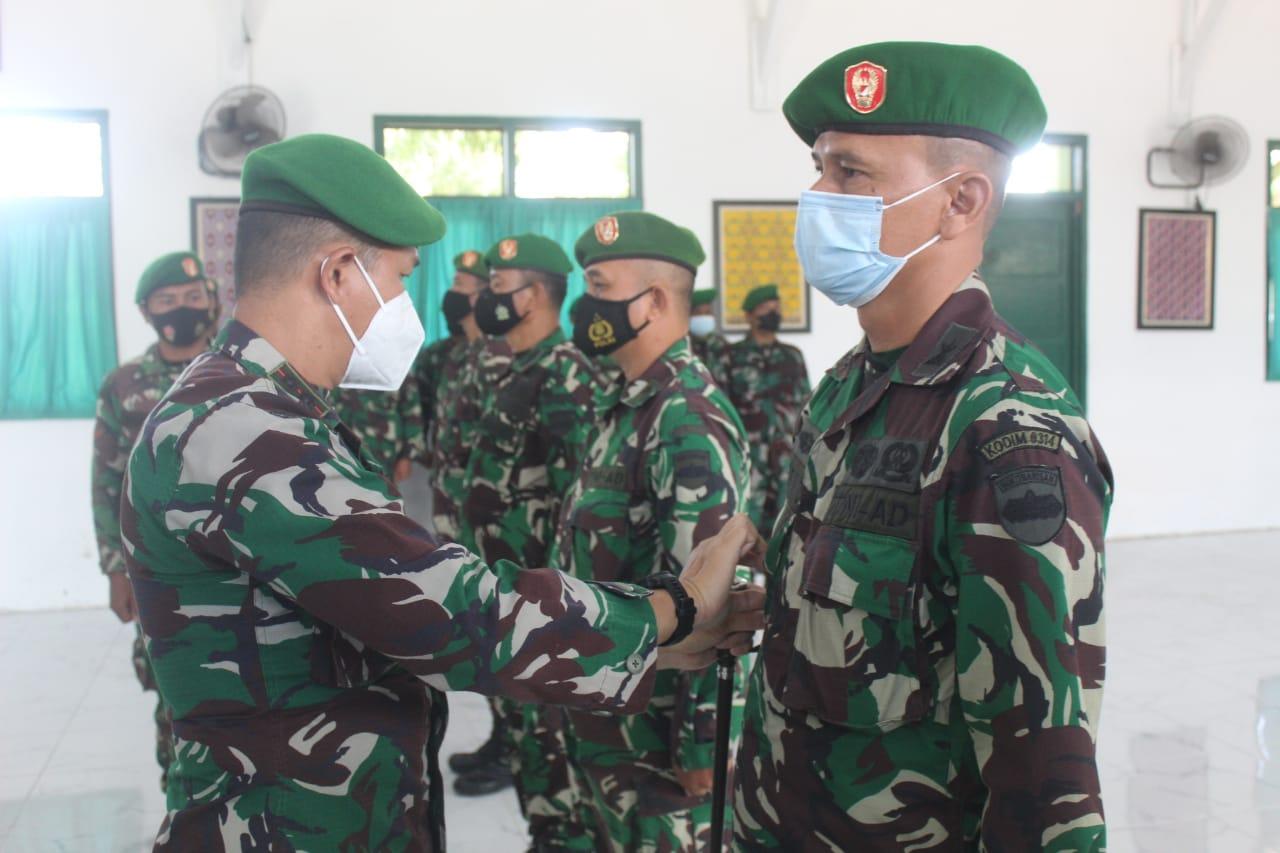 Dalam Sertijab Hari ini,Kapten Czi Asmara Hadi Resmi Jabat Danramil 10/Pelangiran