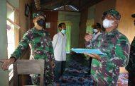 Dandim 0314/Inhil Letkol Inf Imir Faishal meninjau langsung pengerjaan program bedah rumah di 2 (dua) kecamatan