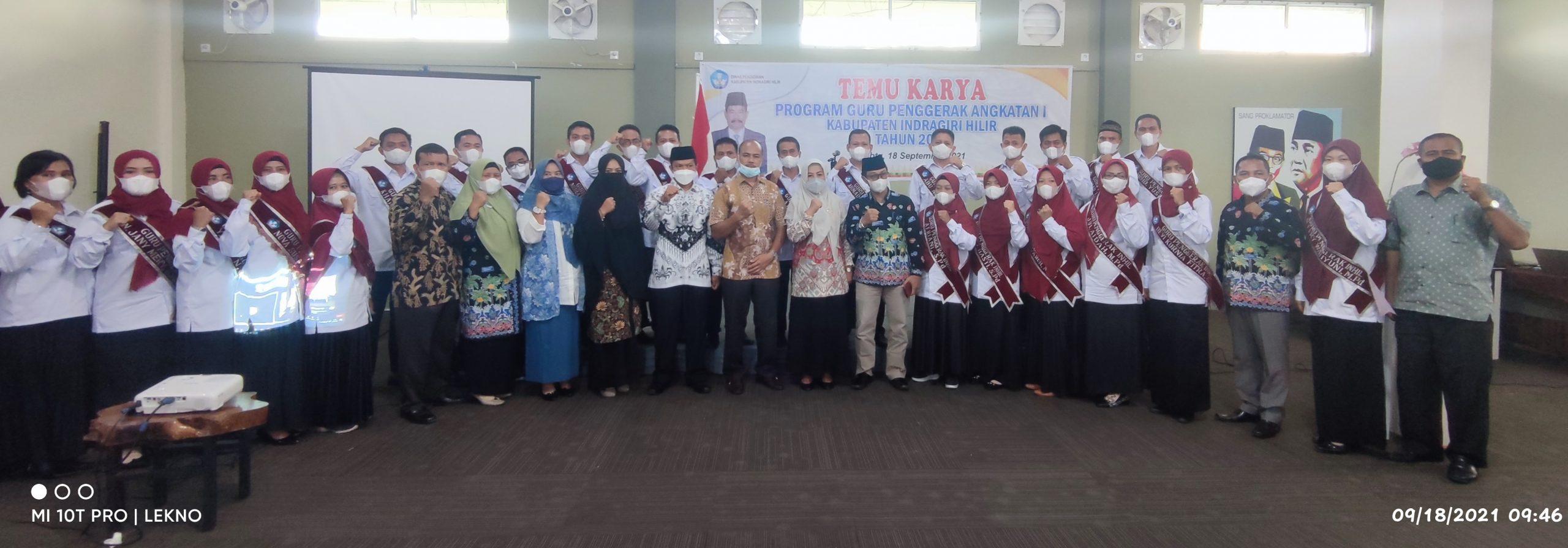 Temu Karya, 27 Guru Pengerak Angkatan I Resmi Diserahkan Ke Disdik Inhil