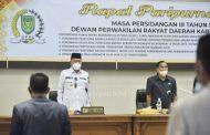 Rapat Paripurna ke-18, Wabup Inhil Sampaikan Pidato Perubahan 5 Ranperda